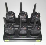 Hire walkie-talkie radios on 6-slot charger