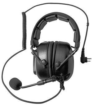 Sound cancelling aircfraft style walkie talkie headset