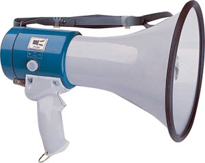 Megaphone for hire