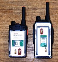 Network radios use mobile phone SIM cards to communicate over the mobile phone / data network