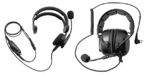 Headsets available for walkie-talkie radios